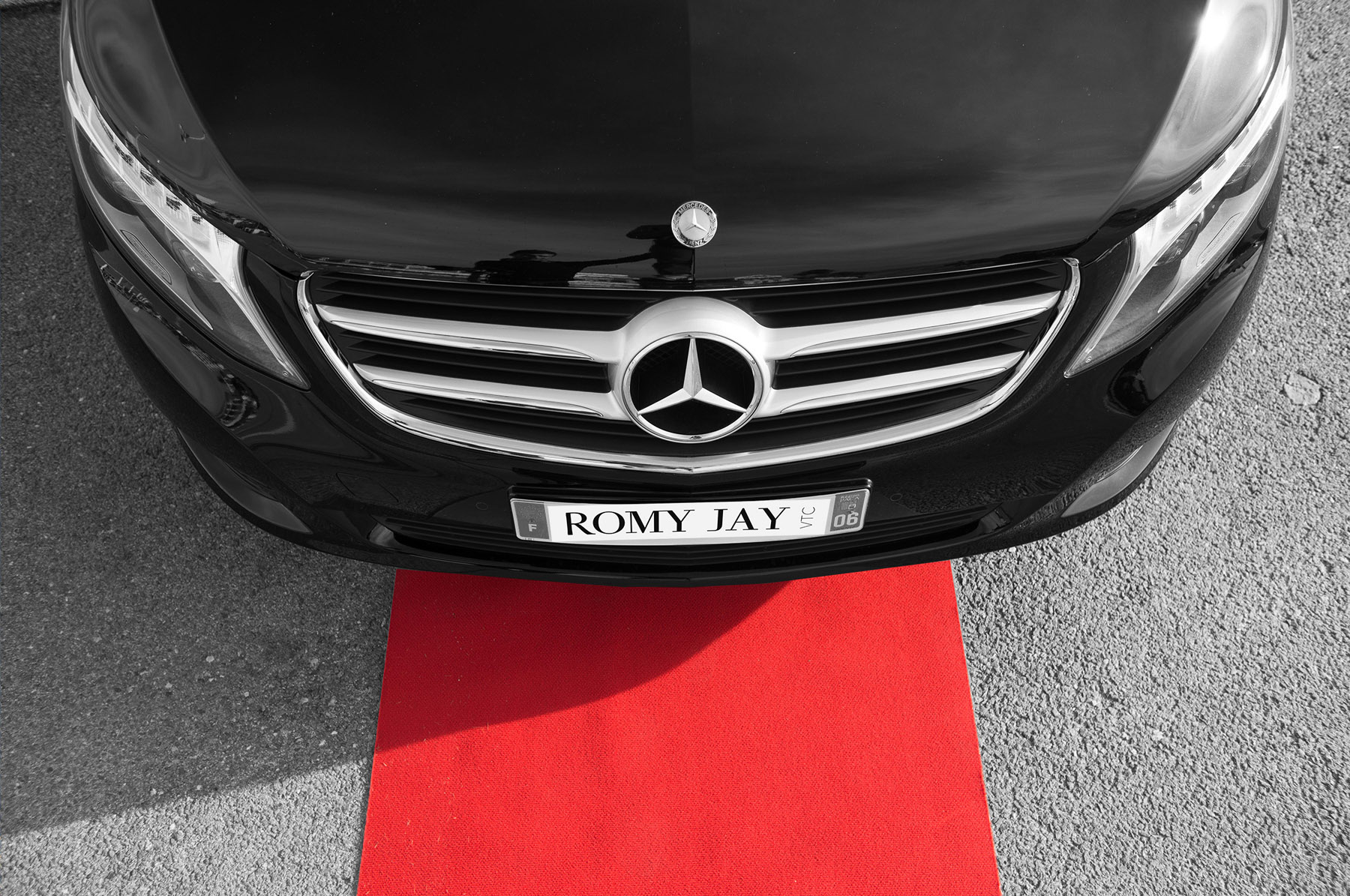 Romy Jay vtc - Location de voiture avec chauffeur Nice 06 - Voiture avec chauffeur privé - Mercedes